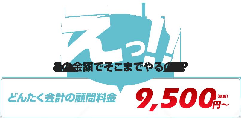 どんたく会計の顧問料金 95000円